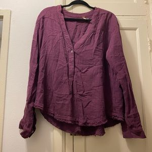 Free people purple Palo Sanyo top - size Large